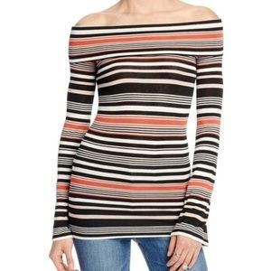 "Free People ""Portland"" Off Shoulder Striped Tunic"